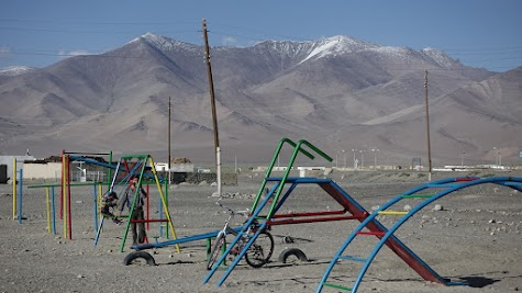 Kinderspielplatz in Karakul.