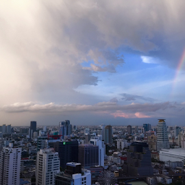 room with a view by Frank Photography - Instagram & Mobile iPhone ( amazing, bangkok, beautiful, capture, holidays, weather, view, iphone, rainbow )