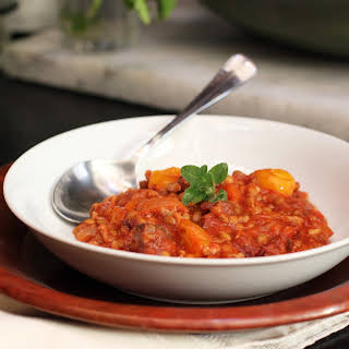 Green Lentil Stew with Chourico Mouro.
