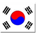 Korea national anthem & flag icon