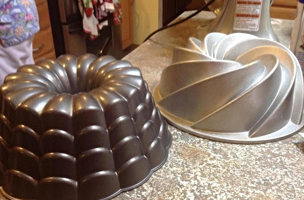 Preheat oven to 325 degrees F. These are the 2 Bundt pans that I...