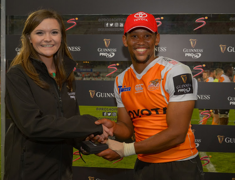 Man of the Match Craig Barry of Toyota Cheetahs during the 2017 Guinness PRO14 game between the Cheetahs and Scarlets at Toyota Stadium, Free State on 2 December 2017.