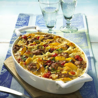 Beef, Potato and Cabbage Casserole.