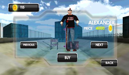 Street skater arcade game