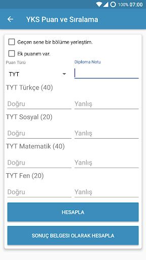 SınavLA - YKS Hesaplama ve Rehberlik 5.36 screenshots 2