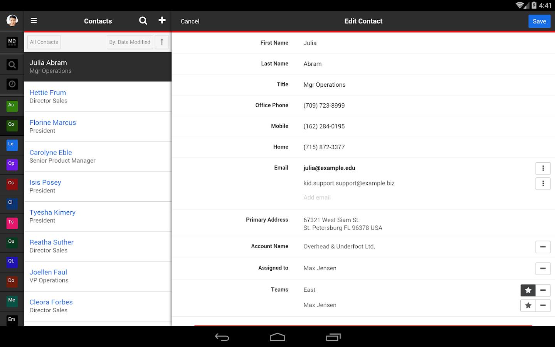 SugarCRM Mobile- screenshot