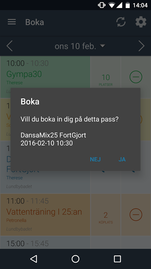 Lundbybadet Mjölby- screenshot