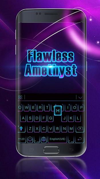 Black Neon 3D Keyboard Theme Android App Screenshot