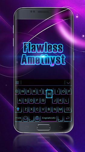 Black Neon 3D Keyboard Theme Android App Screenshot