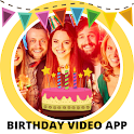 Birthday video 🎂 with pictures and music icon