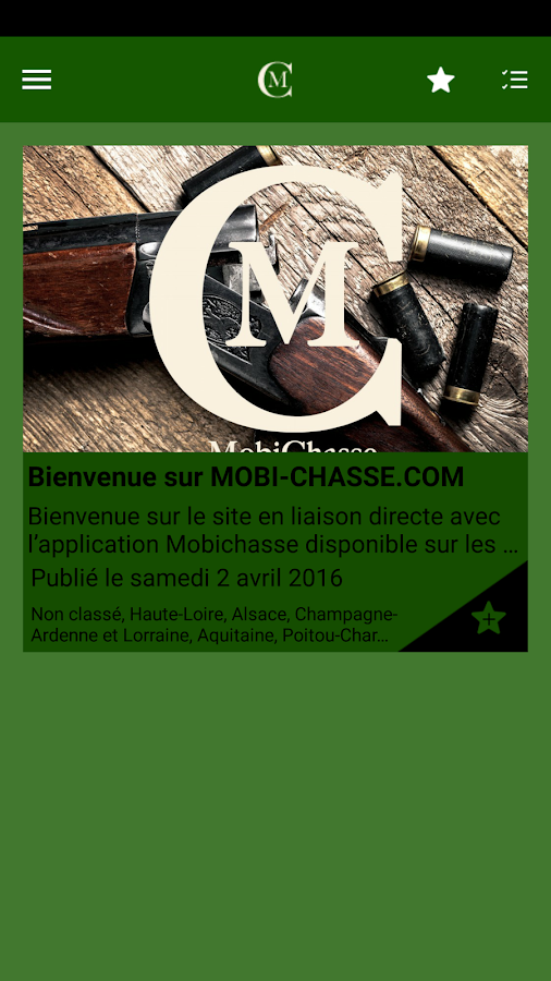 Mobichasse- screenshot