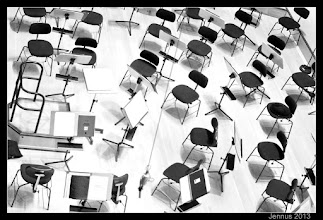 Photo: Chairs for the concert orchestra
