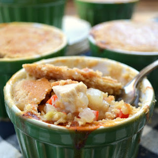 Bacon Dijon Chicken Pot Pie with Easy Whole Wheat Pastry Crust Recipe