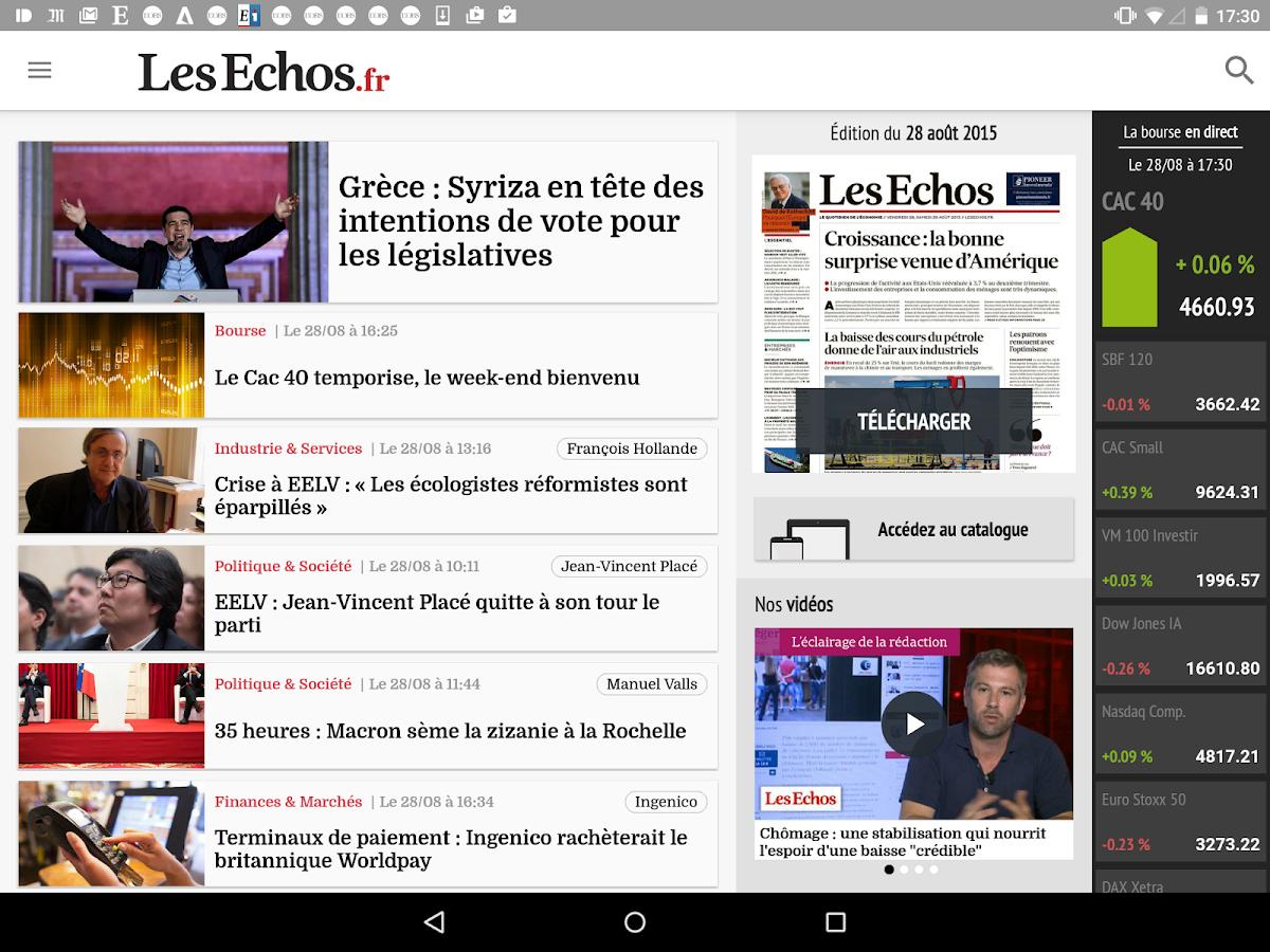 Les Echos - Actualités- screenshot