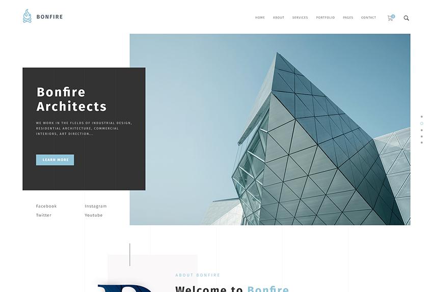 Wordpress ecommerce themes bonfire