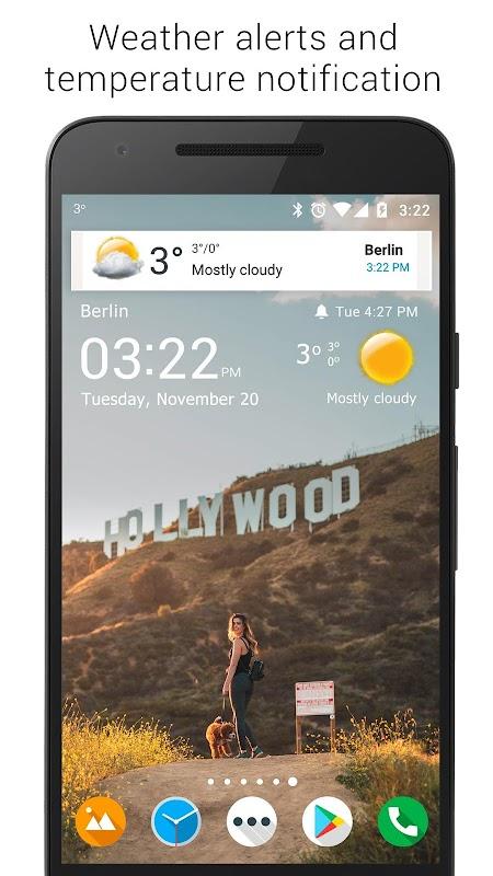 Transparent clock & weather screenshots