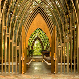 GLASS CHAPEL IN THE OZARKS. by Dana Johnson - Buildings & Architecture Places of Worship ( church, chapel, worship, building, architecture )