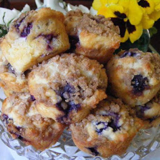 Blueberry Cream Cheese Muffins.