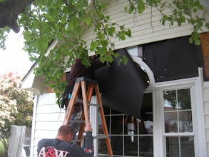 Photo: New Unit Installed being covered up in case any rain overnight