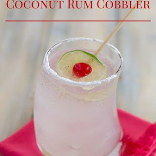 Coconut Rum Cobbler Cocktail.
