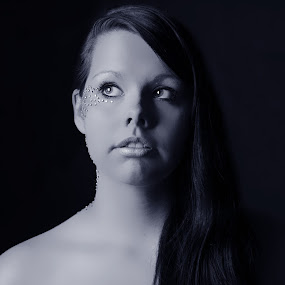 Diamonds by Ellason Boyle - People Portraits of Women ( face, gems, diamonds, shelby. portrait, glitter )