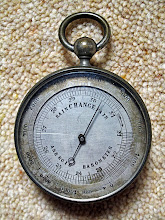 Photo: Alfred Russel Wallace's aneroid barometer. Property of the Wallace family. Copyright George Beccaloni