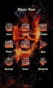 Fire Skull Theme - ZERO Launcher - náhled