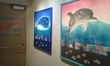 Photo: I am grateful to part of seeing these fun paintings.