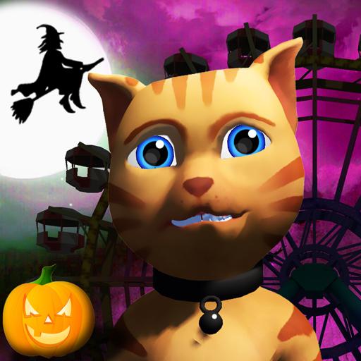 Halloween Cat Theme Park 3D 休閒 App LOGO-硬是要APP