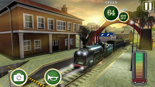 Fast Euro Train Driver Sim: Train Games 3D 2020 android2mod screenshots 1