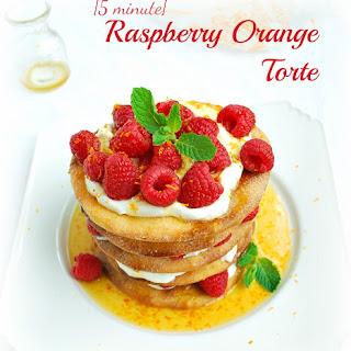 {5 minute} Raspberry Orange Torte