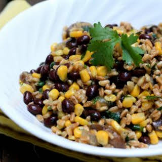 Mushroom, Corn And Black Bean Farro.