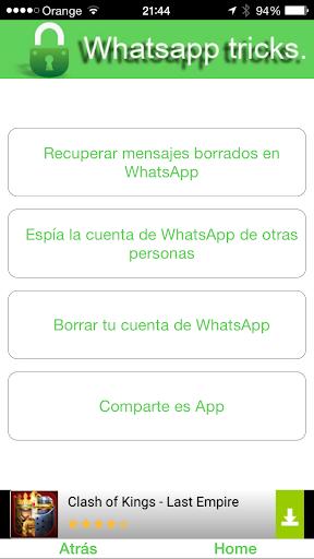トリック へ Whatsapp