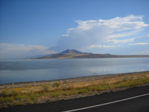 Photo: Antelope Island from the causeway