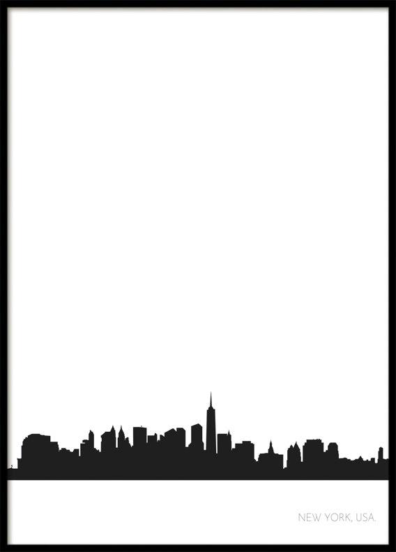 New York City Skyline, Poster
