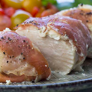 Prosciutto Wrapped Chicken Breast with Cream Cheese.