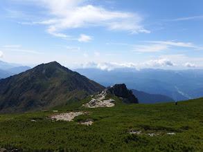 三ノ沢岳分岐から望む