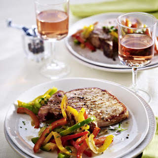 Cumin Pork Chops with Sautéd Peppers