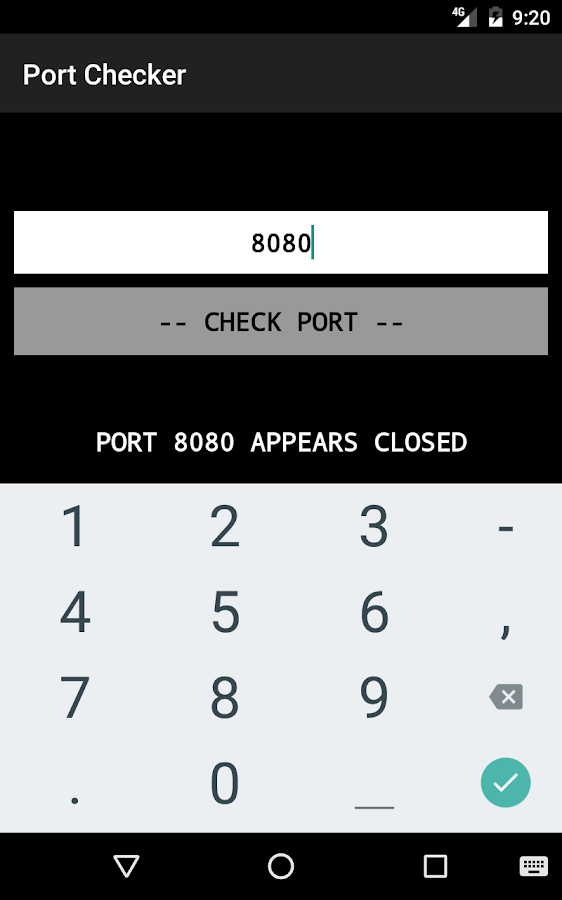 Port Checker- screenshot