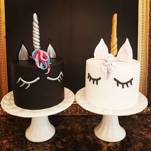 Black and White Unicorn Cakes by Lilli Oliver Cakes Manchester