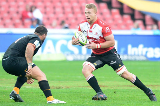 Ruan Ackermann during the Super Rugby match between Emirates Lions and Jaguares at Emirates Airline Park on May 21, 2016 in Johannesburg. Picture: LEE WARREN/GALLO IMAGES