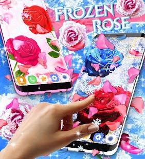 Frozen snow rose live wallpaper - náhled