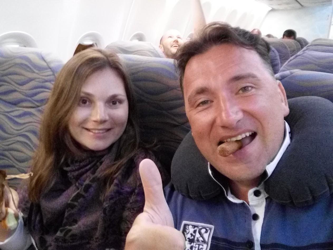 Алексей Зимин и Екатерина Зимина возвращаются с Мальдивских островов