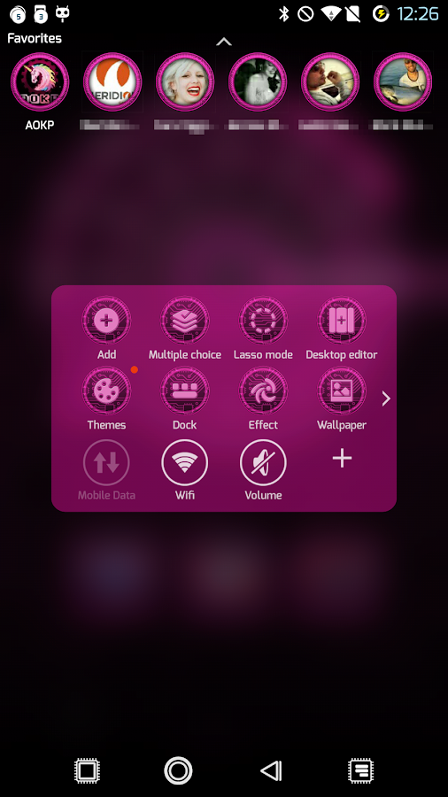 PCB Pink ⁞ TSF Shell 3 Theme - screenshot