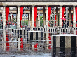 Photo: Jardin du Palais Royal, Paris It was a horrible morning, rainy and cold. But it started to clear around noon, leaving lots of nice reflections in the wet ground.