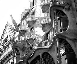 Photo: Everett was very excited to see his first Gaudi too!