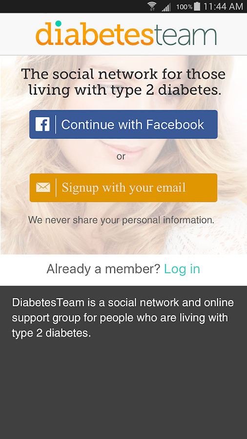 Type 2 Diabetes Support- screenshot