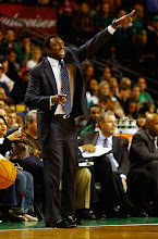 Photo: BOSTON, MA - OCTOBER 16: Head coach Avery Johnson of the Brookyln Nets yells to his team against the Boston Celtics during the preseason game on October 16, 2012 at TD Garden in Boston, Massachusetts. NOTE TO USER: User expressly acknowledges and agrees that, by downloading and or using this photograph, User is consenting to the terms and conditions of the Getty Images License Agreement.  (Photo by Jared Wickerham/Getty Images)