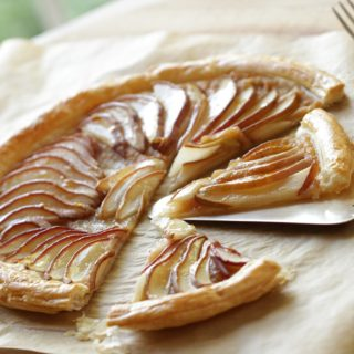 Easy Pear Tart Recipe Using Puffed Pastry.