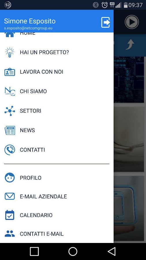 NetCom Group App- screenshot